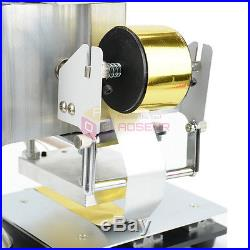110V NEW Hot Foil Stamping Machine Leather PVC Printing LOGO Embossing 810CM