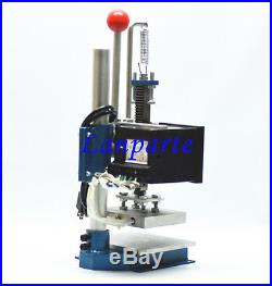 110V US Manual Hot Foil Stamping Machine Leather Debossing Machine 10X13cm