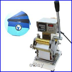 110/220V Manual Hot Foil Stamping Machine Card Leather Plastic Bronzing Tool