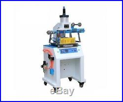 220V 200300mm Pneumatic Leather Logo Embossed Hot Foil Stamping Machine New