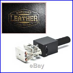 220V Mini Manual Handheld Hot Foil Stamping Machine for Leather Wood
