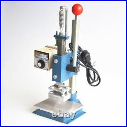 5 x 7cm Manual Hot Foil Stamping Machine Leather Debossing Machine 220V
