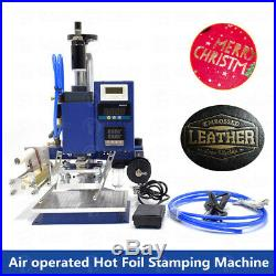 5x7cm Air Operated Hot Foil Stamping Press Machine Logo Letter Embossing 110V