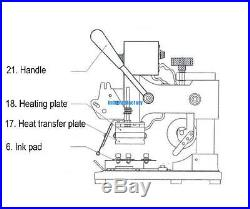 72 Code Printer Card Embossing With Manual Hot Foil Stamping Machine Foil Paper