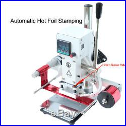 810CM Hot Foil Stamping Auto Machine 110V 300W Leather PVC Embossing Bronzing