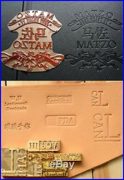 8x10 Custom logo Pro Portable Hot Foil seal Stamp embossing leather wood machine