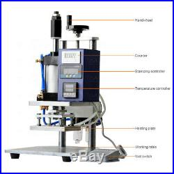Air-Operated Hot Foil Stamping Machine for PVC Card Leather Paper Logo Embossing