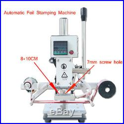 Automatic Leather Hot Foil Stamping Machine 810CM Digital 220V Logo Embossing