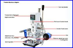 Automatic Reeling Foil Hot Stamping Machine & Holder Leather PVC Embossing Print