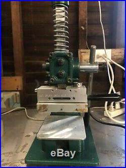BELL TYPE & RULE COMPANY built'Green Machine' Hot Foil Stamping Press