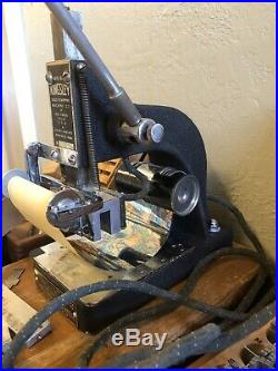 Early Working Low Serial 8600 Kingsley Hot Foil Stamping Machine and Accessories