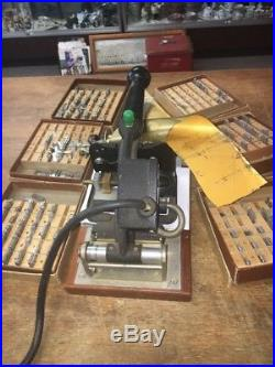 Franklin Imprinting Machine No. V7317846 With Accessories Hot Stamping Gold Foil