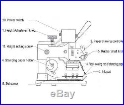 Hot Foil Logo Pattern Text Stamping Printing Machine For Paper Leather PVC Card