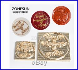 Hot Foil Printing Machine Brass Custom Logo With / WIthout Holder Heat Stamping