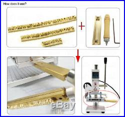 Hot Foil Printing Machine Brass Logo Stamping Letter Press Emboss Leather Heated