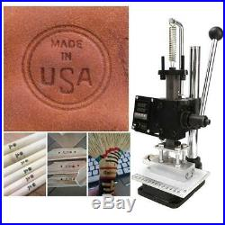 Hot Foil Printing Machine Leather Lo go Stamping PVC Bronzing Embossing 110V