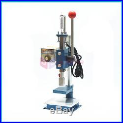 Hot Foil Shoes/Bags Stamping Embossing Machine Manual Marking Leather Tool 110V