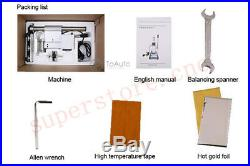Hot Foil Stamping Machine For Shoes Bags PU Leather Manual Label Pressing Emboss