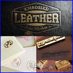 Hot Foil Stamping Machine Leather PVC Printing LOGO Embossing withFREE Foil Paper