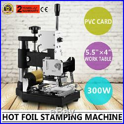 Hot Foil Stamping Machine Tipper Embosser For ID Pvc Cards Free Foil Paper