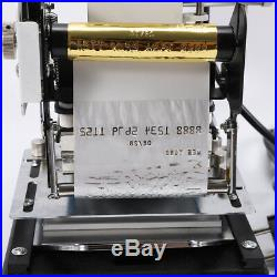 Hot Foil Stamping Printing Machine Tipper PVC Credit Card With Gold foil paper