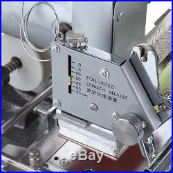 Hot Foil Stamping Tipper Stamper Bronzing Machine PVC Card Leather with Foil Paper