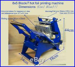 Hot foil printing, stamping machine 8x5 print area, using magnesium or brass dies