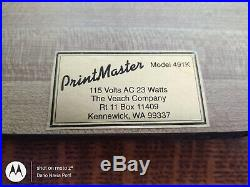 Hot stamping foil roll machine Print Master Mod. 491K perfect working condition