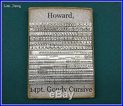 Howard Personalizer Type (14pt. Goudy Cursive) Hot Foil Stamping Machine