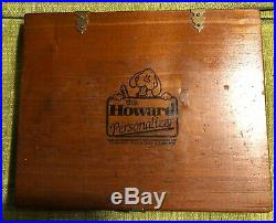 Howard Personalizer Type (18pt Greeting Monotone) Hot Foil Stamp Machine Type