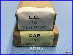 Howard Personalizer Type 18pt. News Gothic Hot Foil Stamping Machine