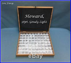 Howard Personalizer Type (36pt. Goudy Light) Hot Foil Stamping Machine