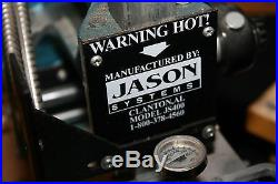 Jason Systems Model JS400 Hot Foil Engraving Stamping Machine Press with letters
