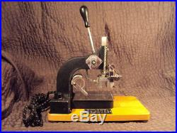 KINGSLEY GOLD, TWO LINE STAMPING / IMPRINTING HOT FOIL MACHINE With MANUAL