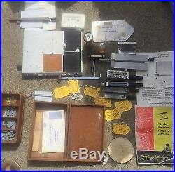 KINGSLEY MACHINE Co. Hot Foil Stamping, gold leaf, used, lots of extras M-75
