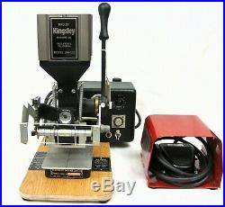 Kingsley AM-101 Hot Foil Stamping Machine Air Operated withAccessories NOS