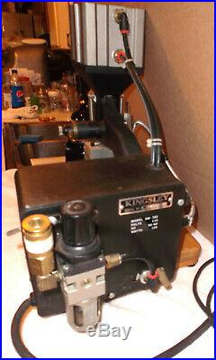 Kingsley AM-101 Hot Foil Stamping Machine w Pedal & More Working