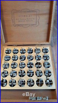 Kingsley Gold Hot Foil Stamping Machine 6 Drawers of Type Set