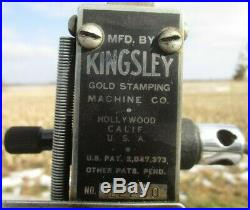 Kingsley Gold Stamping Machine, Vintage Embossing Machine, Hot Foil Stamping a