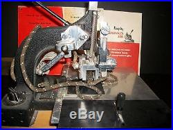 Kingsley Hot Foil Monogramming Stamping Machine M-50 2-line/with type holder