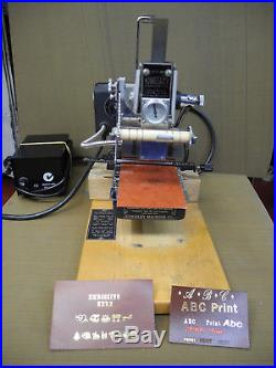 Kingsley Hot Foil Stamping Embossing Machine US Made