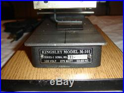 Kingsley Hot Foil Stamping M-101 DIGITAL Machine with Accessories Works Great