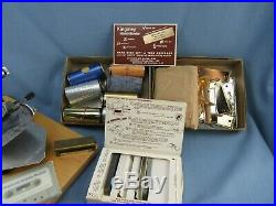 Kingsley Hot Foil Stamping M-60 Machine with Accessories- Goudy Type Caps & Lower