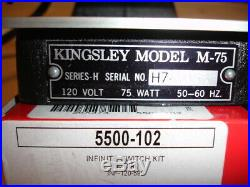 Kingsley Hot Foil Stamping M-75 Machine Parts