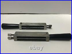 Kingsley Hot Foil Stamping Machine 3 Inch 2 Line Type Holders Adapters YOU GET 2