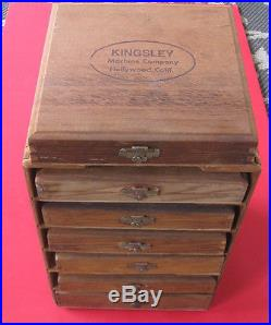 Kingsley Hot Foil Stamping Machine M-101 with 6 boxes & fonts & case