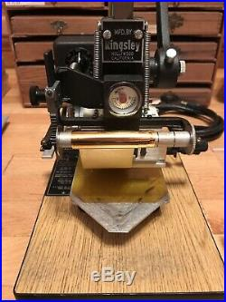 Kingsley Hot Foil Stamping Machine Model M-101 Type Set Many Fonts Holiday More