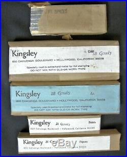 Kingsley Hot Foil Stamping Machine Type 18 Pt. Goudy Set with Spaces NOS