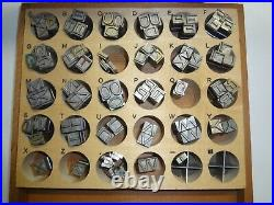 Kingsley Hot Foil Stamping Machine Type (79 piece Set) 24 Pt. Gothic Caps