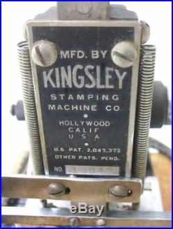 Kingsley Hot Foil Stamping Machine Type Holders Metal Work Table Boards Parts +
